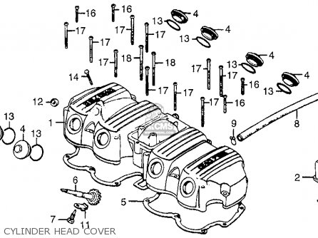 honda cb750f 750 super sport 1978 usa parts lists and schematics On Off Toggle Switch Wiring honda cb750f 750 super sport 1978 usa cylinder head cover