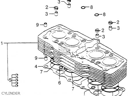 honda cb750f2 750 super sport 1977 usa parts list partsmanual partsfiche. Black Bedroom Furniture Sets. Home Design Ideas