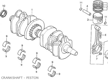 Honda Cb750f2 Supersport european Direct Sales Crankshaft - Piston