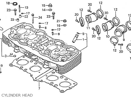 Honda Cb750f2 Supersport european Direct Sales Cylinder Head