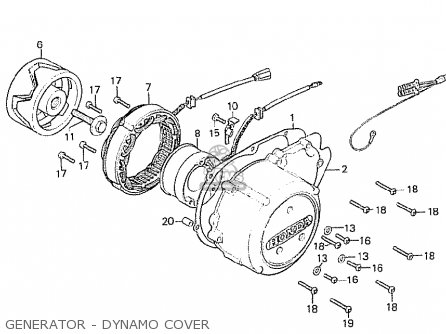 Honda Cb750f2 Supersport european Direct Sales Generator - Dynamo Cover