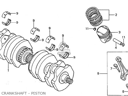 Honda Cb750f2c european Direct Sales Crankshaft - Piston