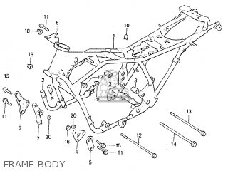 Honda Cb750f2c european Direct Sales Frame Body
