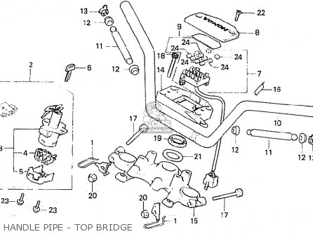 Honda Cb750f2c european Direct Sales Handle Pipe - Top Bridge
