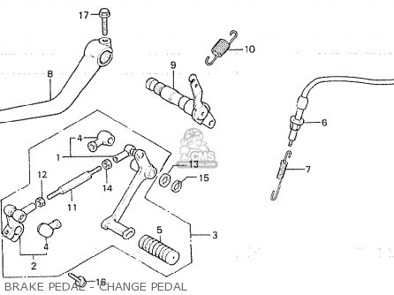 Honda Cb750fa germany Brake Pedal - Change Pedal