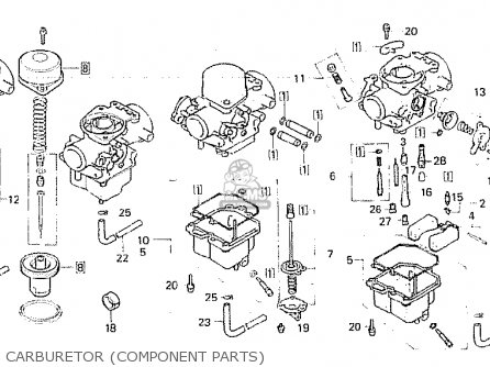 Honda Cb750fa germany Carburetor component Parts