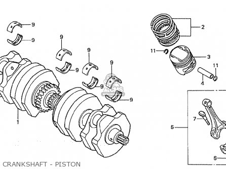 Honda Cb750fa germany Crankshaft - Piston
