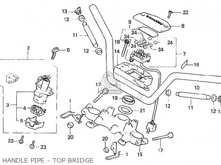 Honda Cb750fa germany Handle Pipe - Top Bridge