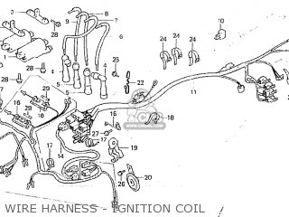 Honda Cb750fa germany Wire Harness - Ignition Coil