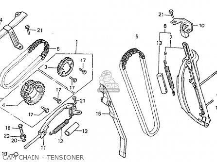 Honda Cb750fb general Export Mph Cam Chain - Tensioner