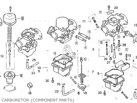 Honda Cb750fb general Export Mph Carburetor component Parts