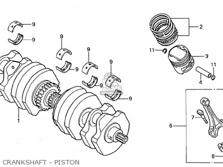 Honda Cb750fb general Export Mph Crankshaft - Piston