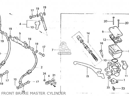Honda Cb750fb general Export Mph Front Brake Master Cylinder