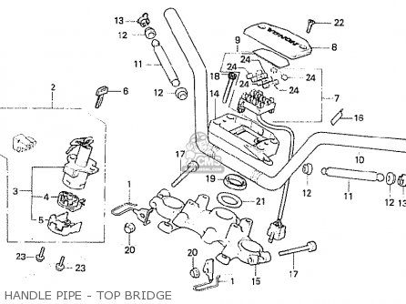 Honda Cb750fb general Export Mph Handle Pipe - Top Bridge