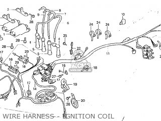Honda Cb750fc australia Wire Harness - Ignition Coil