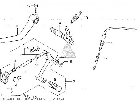 Honda Cb750fc general Export Kph Brake Pedal - Change Pedal