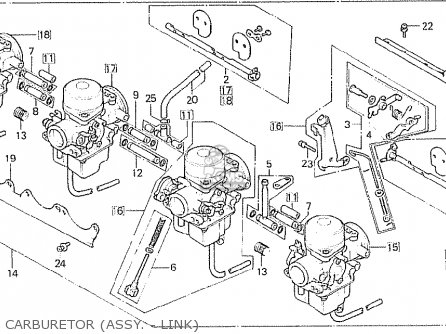Honda Cb750fc general Export Kph Carburetor assy  - Link