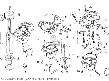 Honda Cb750fc general Export Kph Carburetor component Parts