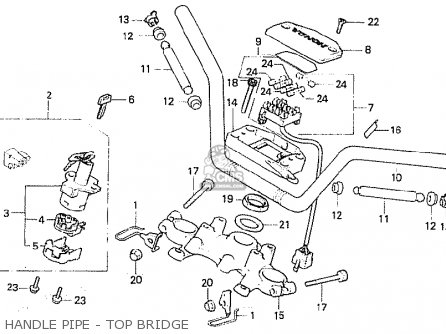 Honda Cb750fc general Export Kph Handle Pipe - Top Bridge