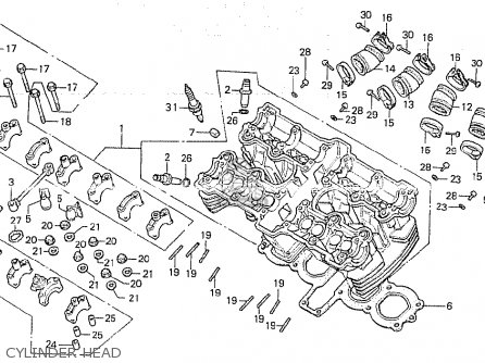 Honda CB750K 1979 (Z) FOUR ENGLAND parts lists and schematics