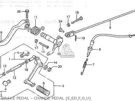 Honda Cb750k 1980 a Four England Brake Pedal - Change Pedal e ed f g u