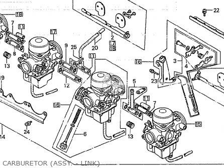 Honda Cb750k 1980 a Four England Carburetor assy  - Link