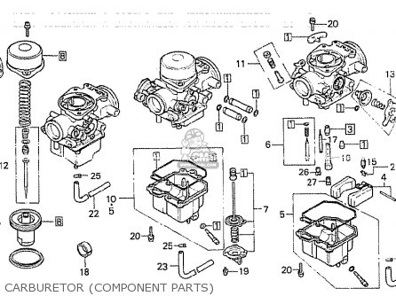 Honda Cb750k 1980 a Four England Carburetor component Parts