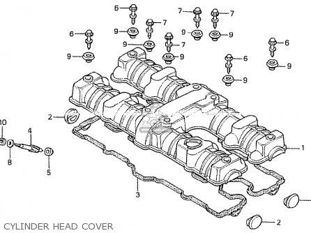 Honda Cb750k 1980 a Four England Cylinder Head Cover
