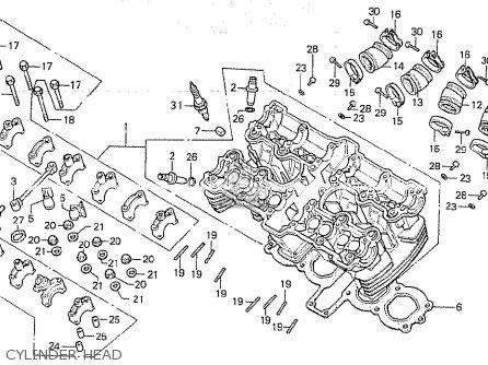 Honda Cb750k 1980 a Four England Cylinder Head