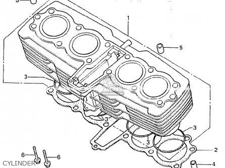 Honda Cb750k 1980 a Four England Cylinder