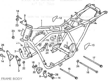 Honda Cb750k 1980 a Four England Frame Body