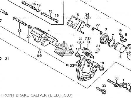 Honda Cb750k 1980 a Four England Front Brake Caliper e ed f g u