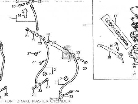Honda Cb750k 1980 a Four England Front Brake Master Cylinder