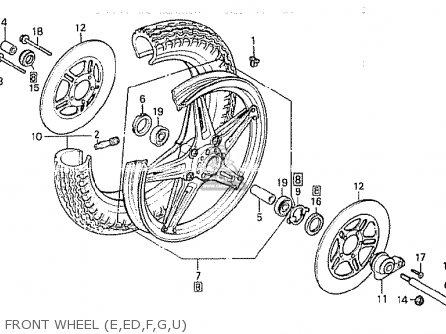 Honda Cb750k 1980 a Four England Front Wheel e ed f g u