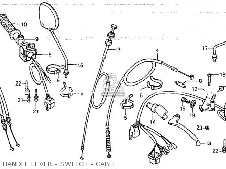 Honda Cb750k 1980 a Four England Handle Lever - Switch - Cable