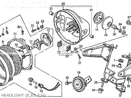 Honda Cb750k 1980 a Four England Headlight e ed f g