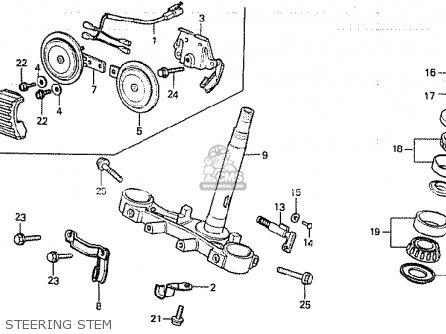 Honda Cb750k 1980 a Four England Steering Stem