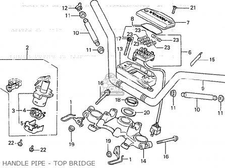 Honda Cb750k 1980 A Four Ireland Police Parts Lists And Schematics