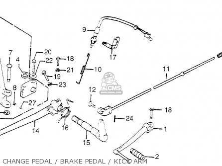 Honda Cb750k 750 Four K 1976 Usa Change Pedal   Brake Pedal   Kick Arm
