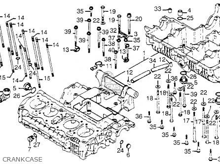 Honda Cb750k 750 Four K 1976 Usa Crankcase