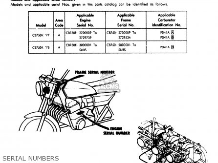 Honda Cb750k 750 Four K 1977 Usa parts list partsmanual partsfiche