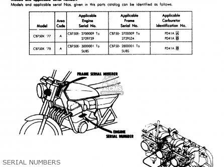 Honda Cb750k 750 Four K 1977 Usa parts list partsmanual partsfiche
