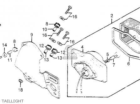Honda Cb750k 750 Four K 1977 Usa parts lists