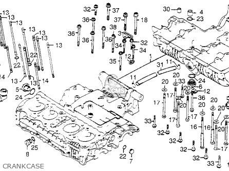 Honda Cb750k 750 Four K 1978 Usa Crankcase