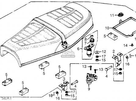 Honda Cb750k 750 Four K 1978 Usa Seat