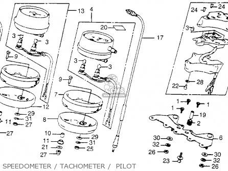 Honda Cb750k 750 Four K 1978 Usa Speedometer   Tachometer    Pilot