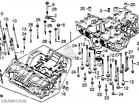 Honda Cb750k 750 Four K 1979 Usa Crankcase