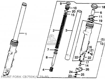 Honda Cb750k 750 Four K 1979 Usa Front Fork Cb750k l 79-80