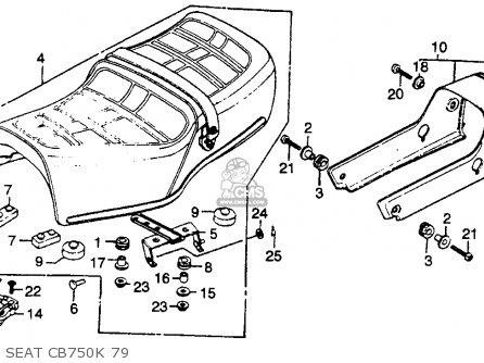 Honda Cb750k 750 Four K 1979 Usa Seat Cb750k 79