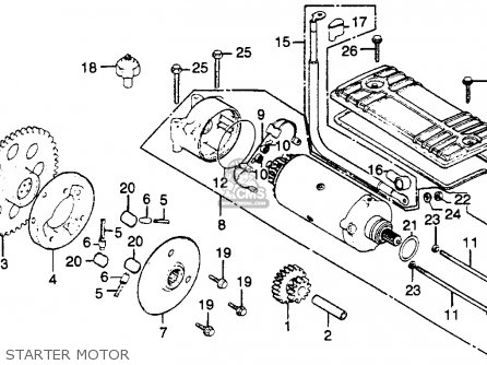 Honda Cb750k 750 Four K 1979 Usa Starter Motor